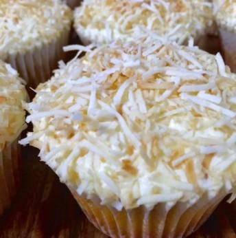 Coconut Caramel Cupcakes (GF)